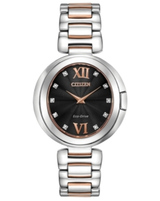 Citizen Eco-Drive Women's Capella Diamond-Accent Two-Tone Stainless Steel Bracelet Watch 34mm