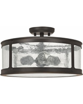 """Capital Dylan Glass 16""""W Old Bronze Outdoor Ceiling Light"""