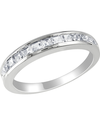 3/4 CT. T.W. Created White Sapphire Eternity Ring - Silver, Size: 9.0