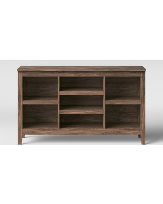 """32"""" Carson Horizontal Bookcase with Adjustable Shelves Walnut Brown - Threshold"""
