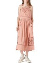 Lucky Brand Sleeveless Eyelet Maxi Dress, Size X-Large in Blush at Nordstrom