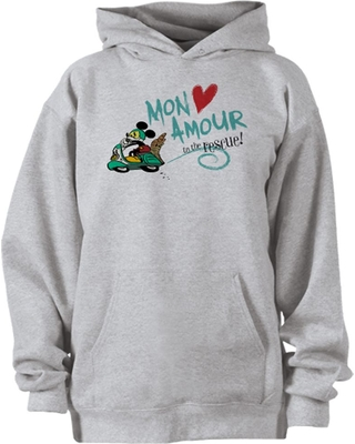 Mickey Mouse Croissant de Triomphe Hoodie Pullover for Adults Customizable Official shopDisney