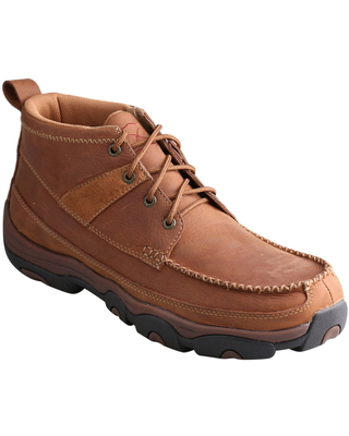 Men's Twisted X Moc Toe Boot, Size 12 W - Brown