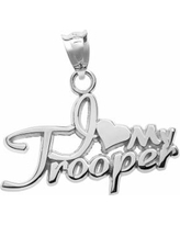 "Insignia Collection Sterling Silver ""I Love My Trooper"" Pendant, Women's, multicolor"