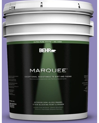 BEHR MARQUEE 5 gal. #630B-6 Butterfly Garden Semi-Gloss Enamel Exterior Paint and Primer in One