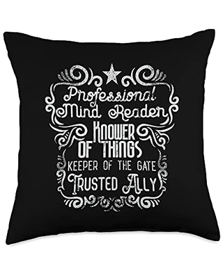Office Gifts and Gags by Cowcha Brands Admin Professionals Day Gifts Mind Reader Throw Pillow, 18x18, Multicolor