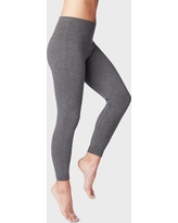 Women's High-Waist Seamless French Terry Leggings - A New Day Heather Gray L/XL