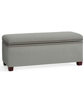 Tamsen Upholstered Storage Bench, Performance Everydaysuede(TM) Metal Gray