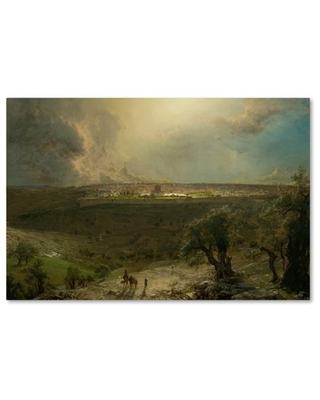 Trademark Fine Art 'Jerusalem From The Mount Of Olives' Canvas Art by Church