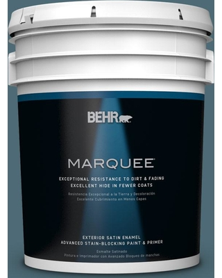 BEHR MARQUEE 5 gal. #S470-6 Shipwreck Satin Enamel Exterior Paint and Primer in One