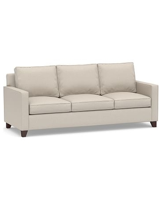 Cameron Square Arm Upholstered Side Sleeper Sofa, Polyester Wrapped Cushions, Performance Chateau Basketweave Oatmeal
