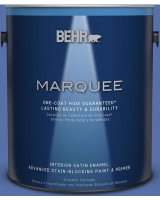 BEHR MARQUEE 1 gal. #MQ5-47 Splendor and Pride One-Coat Hide Satin Enamel Interior Paint and Primer in One