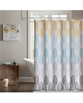 Prospect Park Printed Shower Curtain - Yellow/Aqua - (72x72)