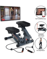 Women's Health Men's Health Cardio Stair Stepper with Adjustable Resistance Bands and MyCloudFitness App