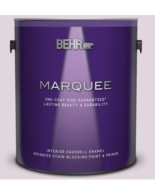 BEHR MARQUEE 1 gal. #S110-1 Secret Scent Eggshell Enamel Interior Paint and Primer in One