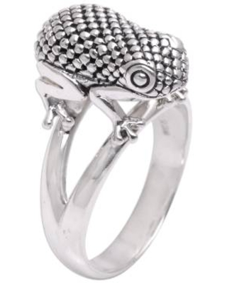 Sterling Silver Frog Cocktail Ring from Bali