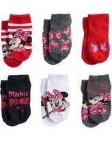Disney's Minnie Mouse Toddler Girl 6-pack Low-Cut Socks, Size: 2T-4T, Pink