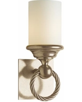 "Hubbardton Forge Cavo Opal 12 1/2""H Soft Gold Wall Sconce"