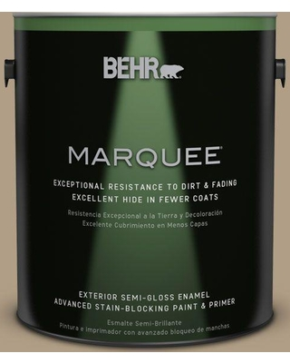 BEHR MARQUEE 1 gal. #ecc-53-2 Wild Rye Semi-Gloss Enamel Exterior Paint and Primer in One