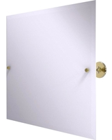 Allied Brass Shadwell Collection Frameless Landscape Rectangular Tilt Mirror with Beveled Edge in Unlacquered Brass