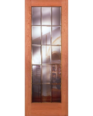 Feather River Doors 30 In. X 80 In. 15 Lite Unfinished Cherry Clear Bevel