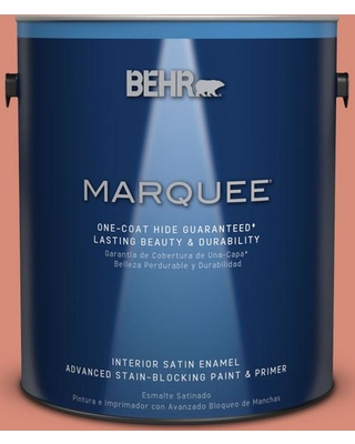 BEHR MARQUEE 1 gal. #MQ4-32 Vintage Coral One-Coat Hide Satin Enamel Interior Paint and Primer in One