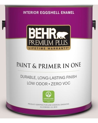 BEHR Premium Plus 1 gal. #PPU17-06 Crushed Peony Eggshell Enamel Low Odor Interior Paint and Primer in One
