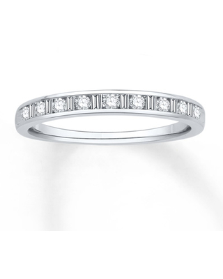 Diamond Anniversary Band 1/4 cttw Round/Baguette 14K White Gold