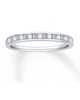 Jared The Galleria Of Jewelry Diamond Anniversary Band 1/4 ct tw Round/Baguette 14K White Gold