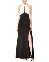 Sequin Hearts Womens Colorblocked A-line Dress, Black, 1
