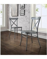 Amazing Sales On Better Homes Gardens London Faux Linen Dining Chair Set Of 2 Multiple Colors