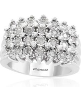 Effy Silver 0.49 ct. t.w. Diamond Beaded Ring in Sterling Silver