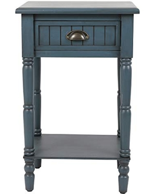 Décor Therapy Bailey Bead board 1-Drawer Accent Table, 14x17x26.5, Antique Navy