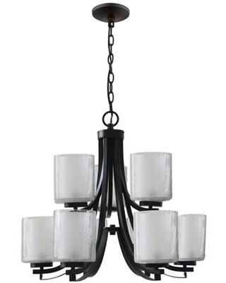 Modern Classic Collection Nine Light Chandelier