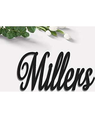 HappyLoveDecor Personalized Name Signs  First Name Sign for Baby Nursery   Wooden Last Name Sign  Cursive Wood Letters  (Different Colors & Sizes)  from