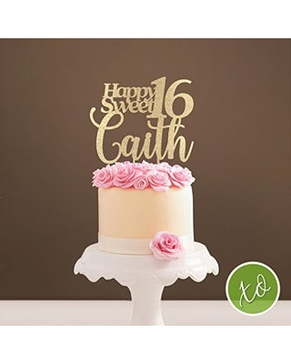 Great Deal On Sweet 16 Topper Sweet Sixteen Birthday Cake Topper