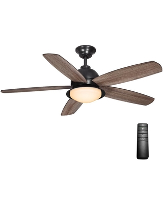 2a73eabbfff Home Decorators Collection Ackerly 52 in. Integrated LED Indoor Outdoor  Natural Iron Ceiling Fan