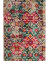 Gray/Fuchsia Floral Loomed Accent Rug 3'X5' - Safavieh, Gray Pink