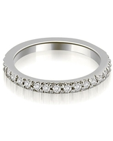 14K White Gold 0.60 CT Round Cut Stackable Diamond Eternity Ring (6)