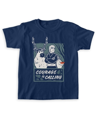 Sven, Kristoff & Olaf ''Courage is Calling'' T-Shirt for Boys Frozen 2 Customizable Official shopDisney
