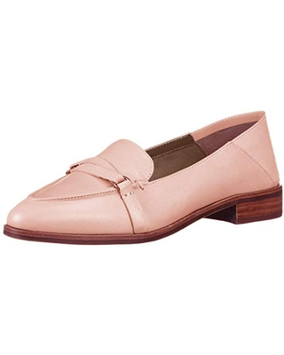 Aerosoles Women's South East Loafer Flat, Pink Leather, 6.5 M US