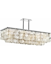 "Bay Breeze 39 1/4"" Wide Capiz Shell Linear Chandelier"