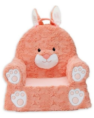 Shop Deals On Soft Landing Premium Sweet Seats Bunny Chair In Coral