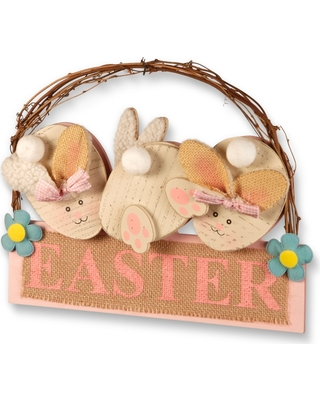 """12"""" Easter Decoration - National Tree Company, Adult Unisex, Beige Pink"""