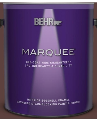 BEHR MARQUEE 1 gal. #710B-7 Rich Mahogany Eggshell Enamel Interior Paint and Primer in One