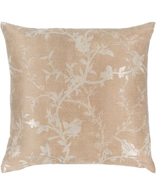 Coburn Woven Floral 18-inch Throw Down or Poly Filled Throw Pillow (Polyester - Tan)