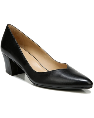 Naturalizer Mali Pointed Toe Pump, Size 6 in Black Leather at Nordstrom