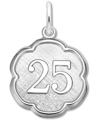 25 Charm Sterling Silver