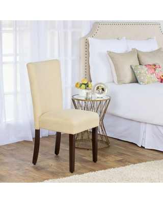 HomePop Glenbrier Daisy Textured Parson Dining Chair - Single (Yellow)