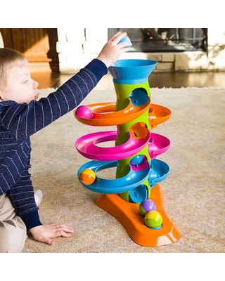 RollAgain Tower - Baby Toys & Gifts for Ages 1 to 2 - Fat Brain Toys